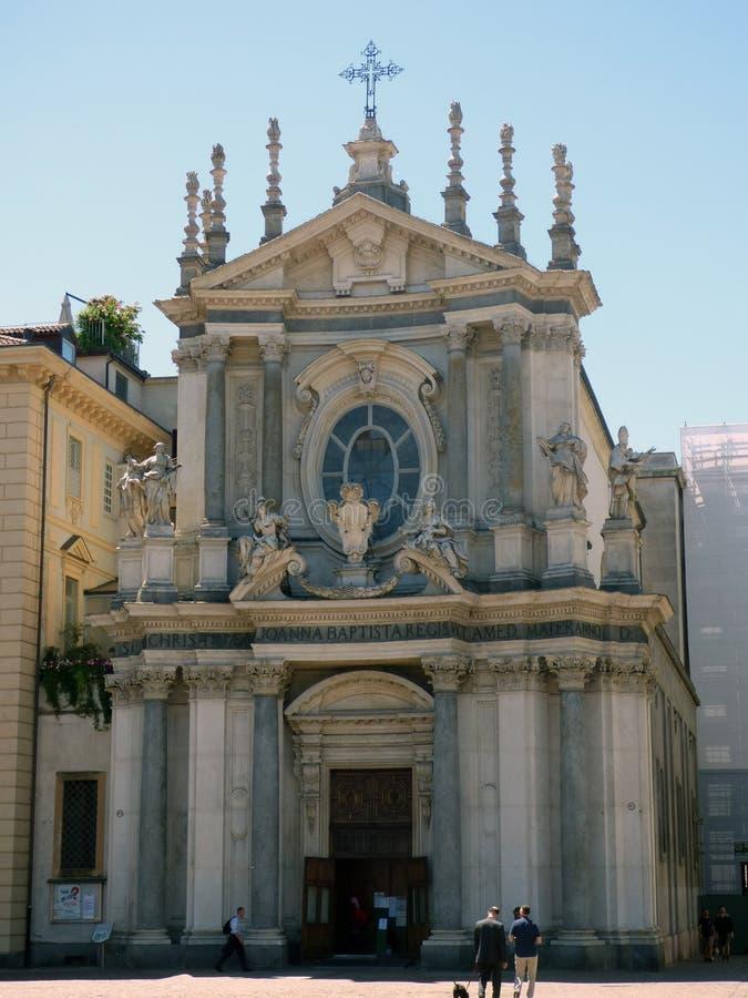 Italia. Torino. Piazza San Carlo. The church of Santa Cristina. Piazza San Carlo royalty free stock photography