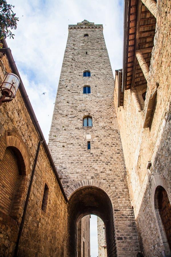Torres de San Gimignano fotografia de stock