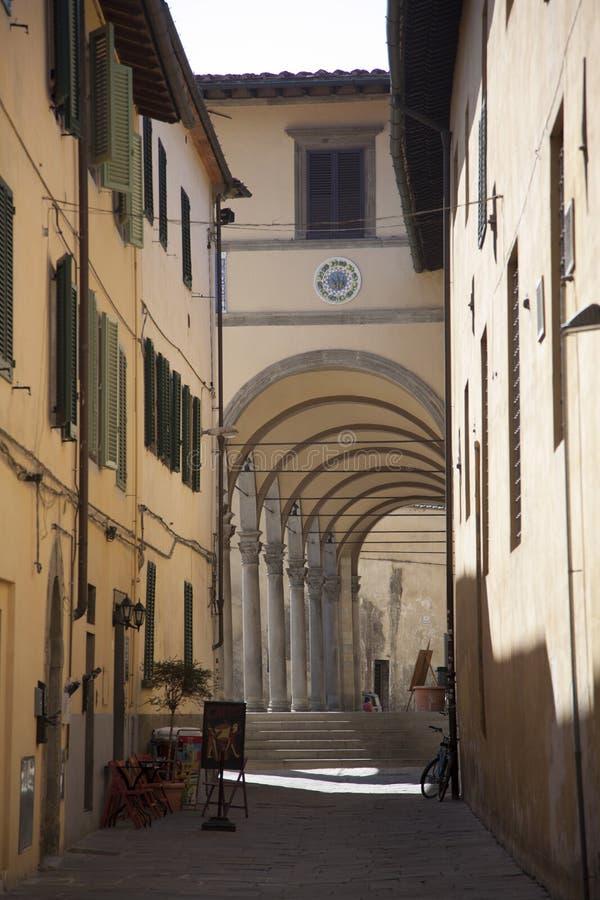 Italia, Toscana, Pistóia La columna del hospital de Ceppo foto de archivo libre de regalías