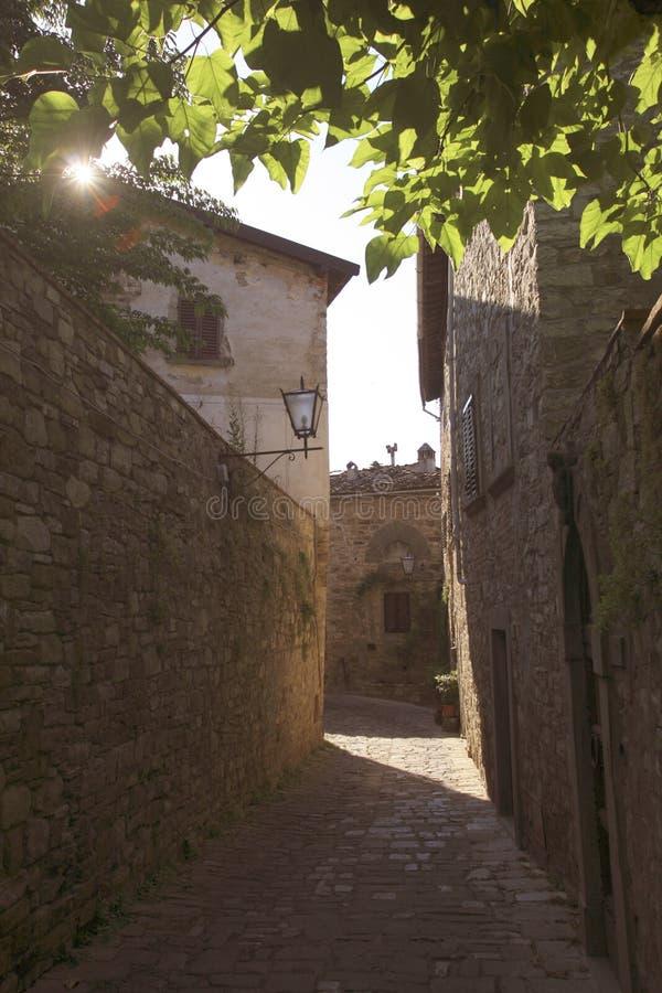 Italia, Toscana, zona de Chianti, pueblo de Montefioralle fotos de archivo
