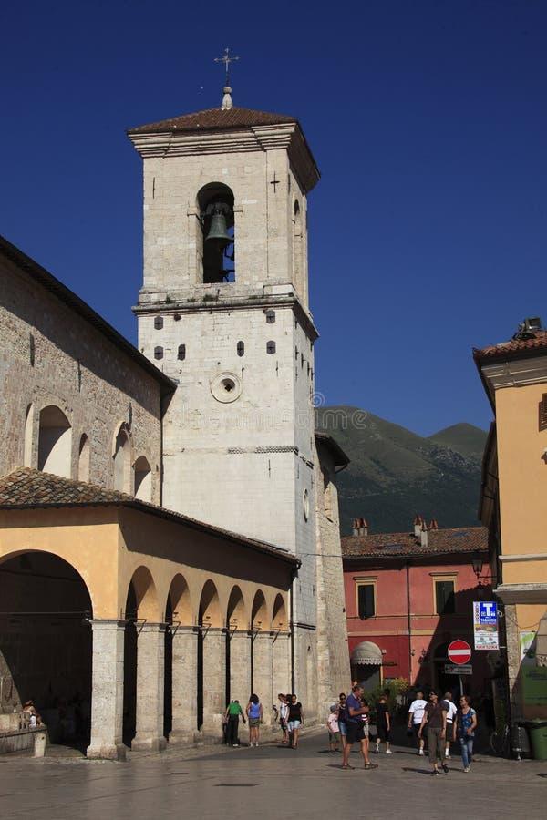 Italia, Umbría, ciudad de Norcia foto de archivo libre de regalías