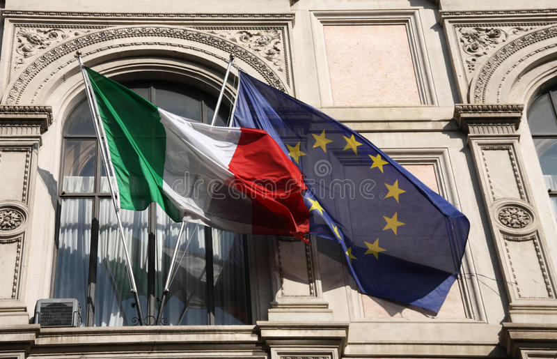 Italia y unión europea imágenes de archivo libres de regalías