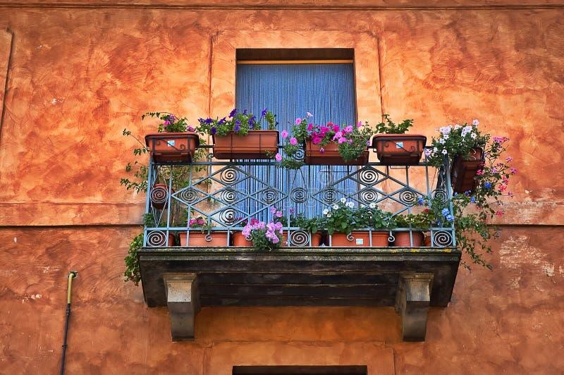 Italiaans balkon royalty-vrije stock afbeeldingen