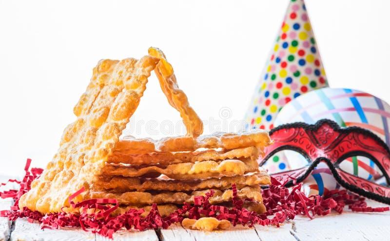 Italiaans Carnaval-gebakje stock foto's