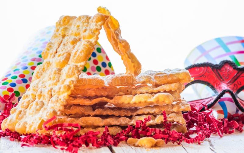 Italiaans Carnaval-gebakje royalty-vrije stock foto's