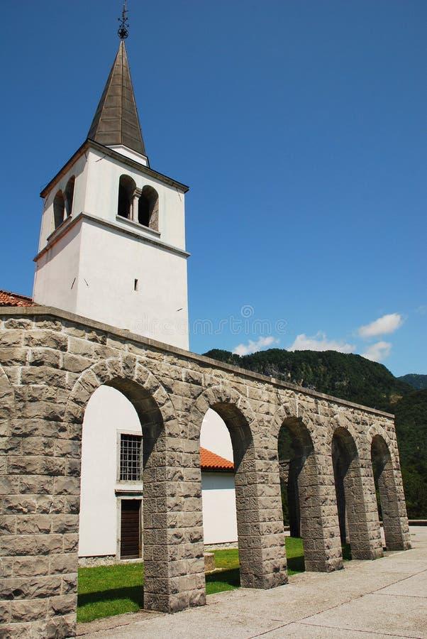 Italiaans Charnal-Huis in Kobarid royalty-vrije stock foto