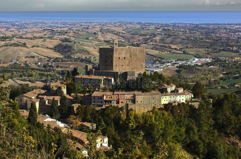 Italiaans kasteel royalty-vrije stock afbeelding