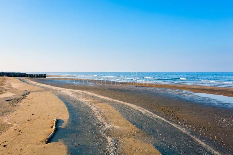 Italiaans kustlijnlandschap, Boccasette-strand royalty-vrije stock foto