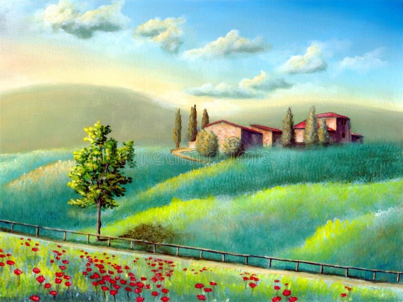 Italiaans landschap royalty-vrije illustratie