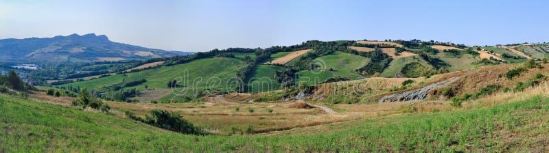 Italiaans landschap in Toscanië royalty-vrije stock fotografie
