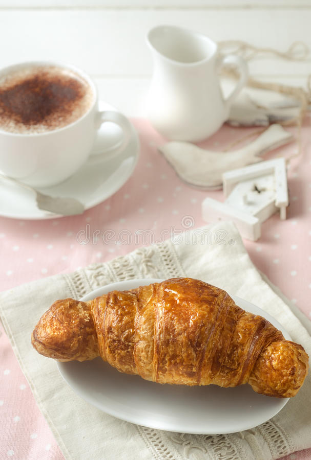Italiaans ontbijt royalty-vrije stock foto's