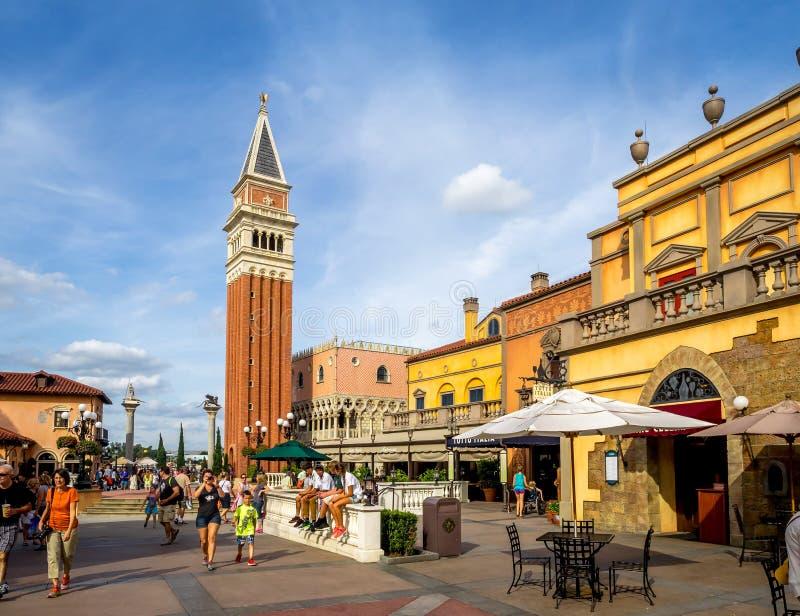 Italiaans paviljoen, Wereldshowcase, Epcot royalty-vrije stock afbeeldingen