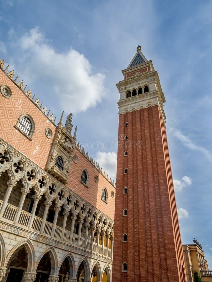 Italiaans paviljoen, Wereldshowcase, Epcot royalty-vrije stock afbeelding
