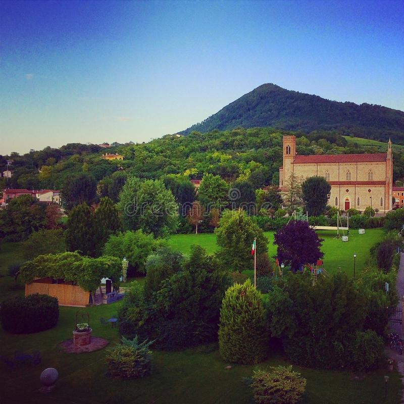 Italiaans Platteland stock foto