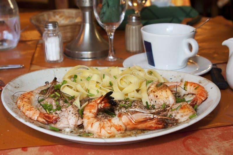 Italiaans Restaurant in douvres-La-D?livrande royalty-vrije stock afbeelding
