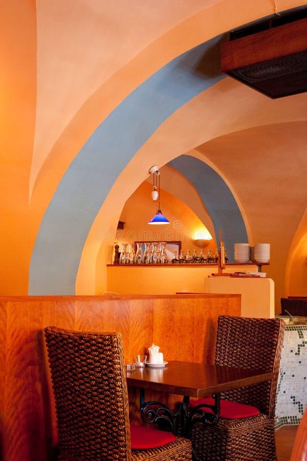 Italiaans restaurantbinnenland 2 stock fotografie