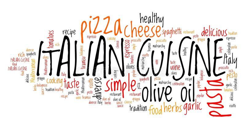 Italiaans voedsel royalty-vrije illustratie