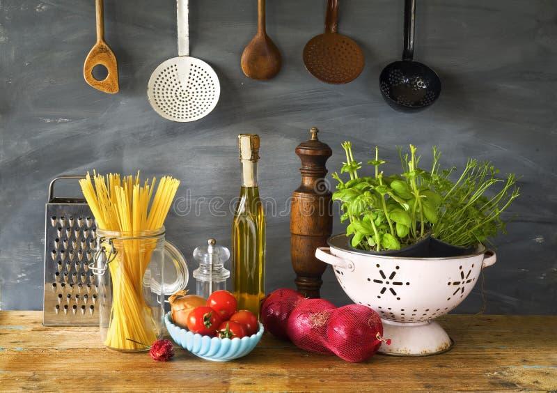 Italiaans voedsel i royalty-vrije stock foto