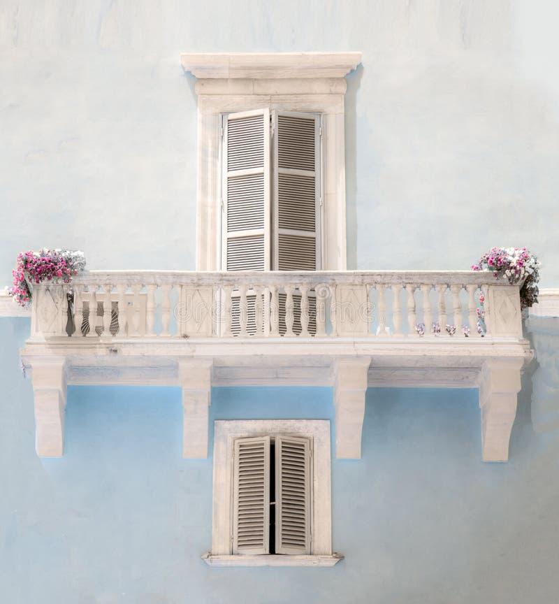 Italiaanse architectuur in Rome royalty-vrije stock afbeelding
