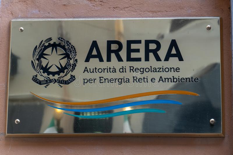Italiaanse Arera-signage royalty-vrije stock afbeeldingen