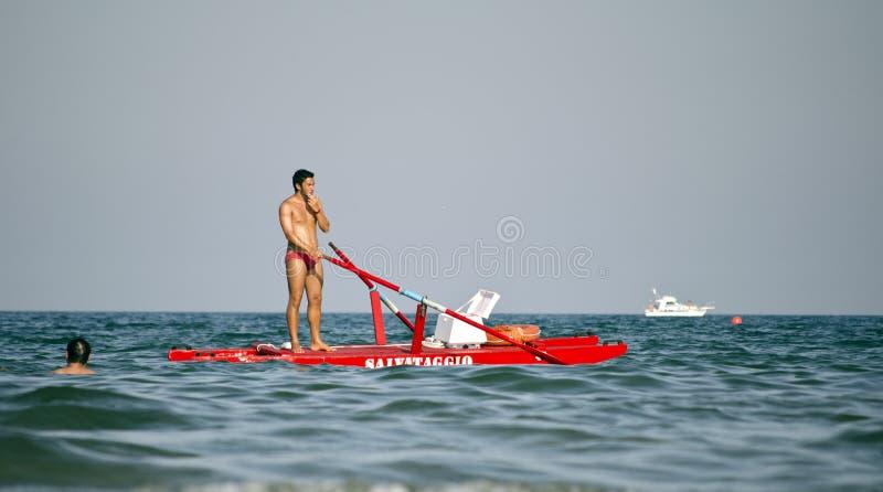 Italiaanse badmeester stock afbeeldingen