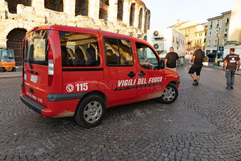 Italiaanse brandweerkorpsauto royalty-vrije stock foto