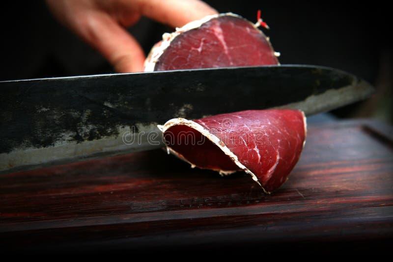 Italiaanse bresaola van het lunchvlees royalty-vrije stock fotografie