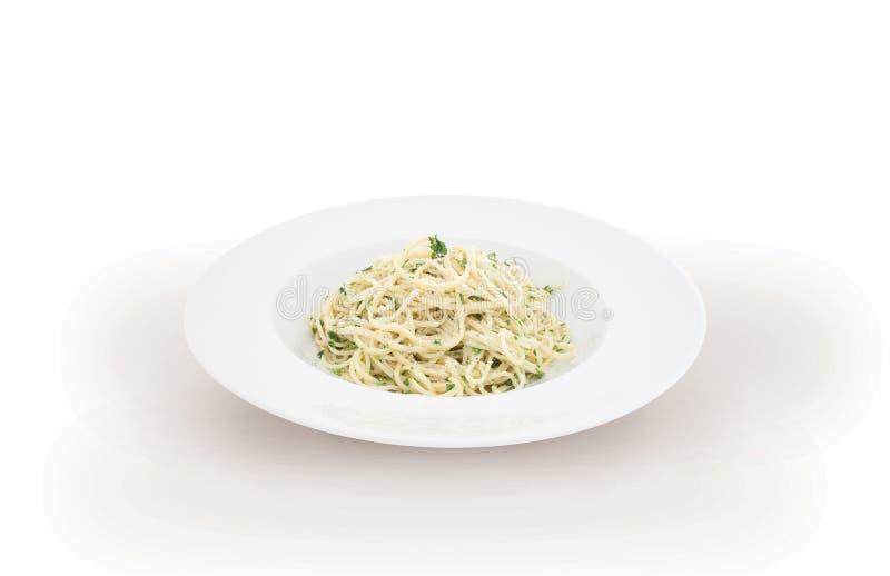 Italiaanse carbonara van de deegwarenspaghetti stock afbeeldingen