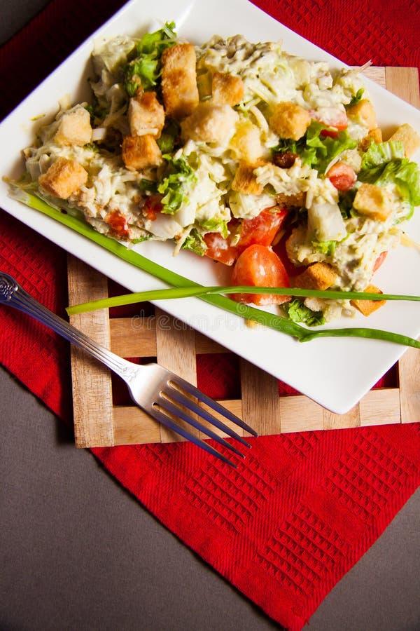 Italiaanse ceasar salade stock foto's