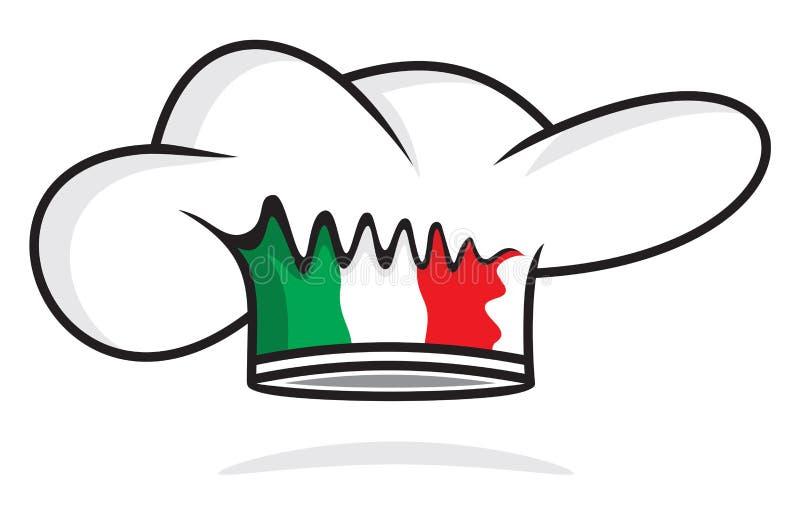 Italiaanse chef-kokhoed stock illustratie