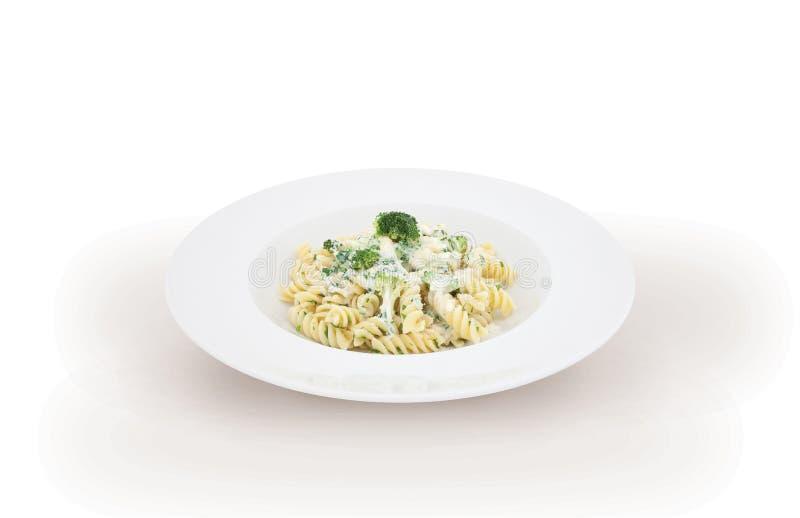 Italiaanse deegwarencarbonara stock afbeelding