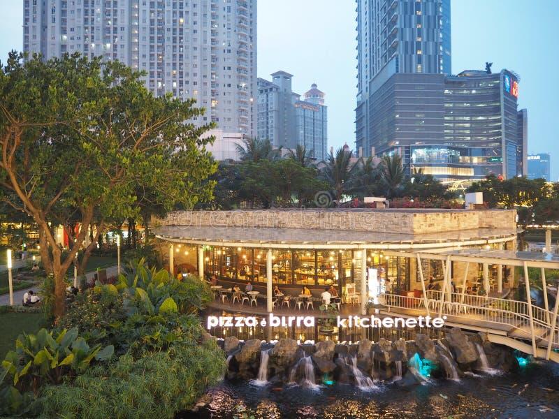 Italiaanse diner in Djakarta stock foto