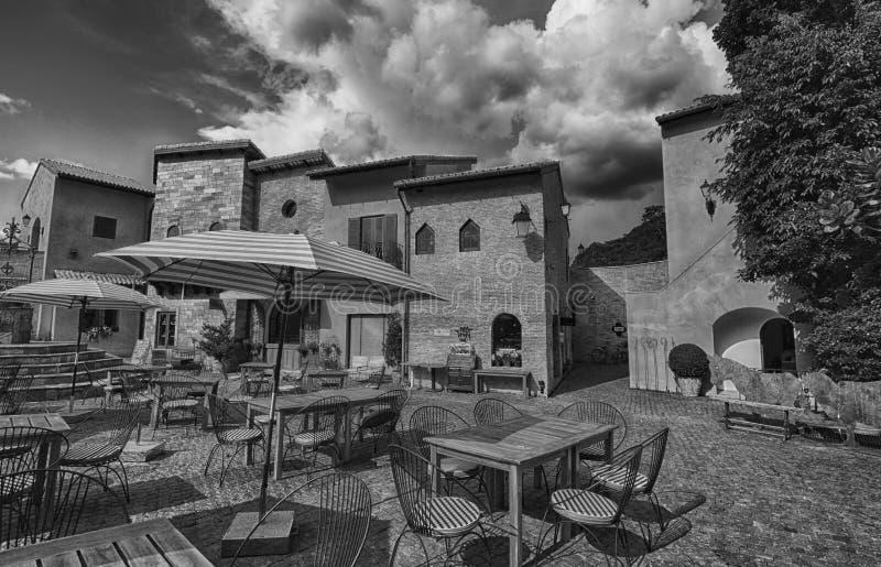 Italiaanse dorpsstijl royalty-vrije stock foto's