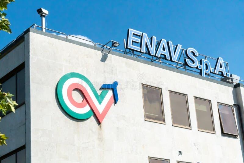Italiaanse Enav S P A signage royalty-vrije stock afbeelding