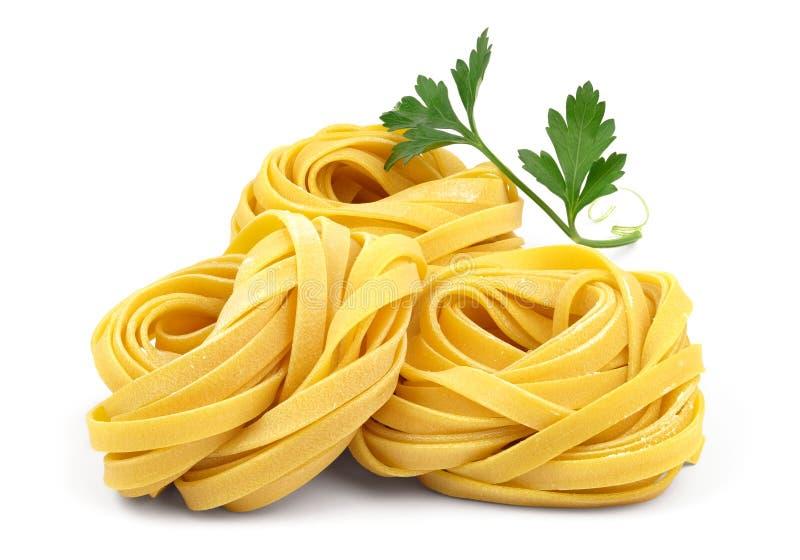 Italiaanse fettuccinedeegwaren stock foto's