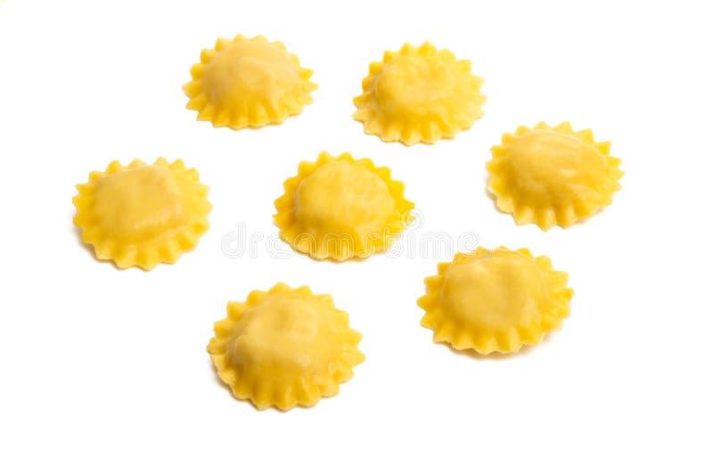 Italiaanse geïsoleerde ravioli royalty-vrije stock afbeelding
