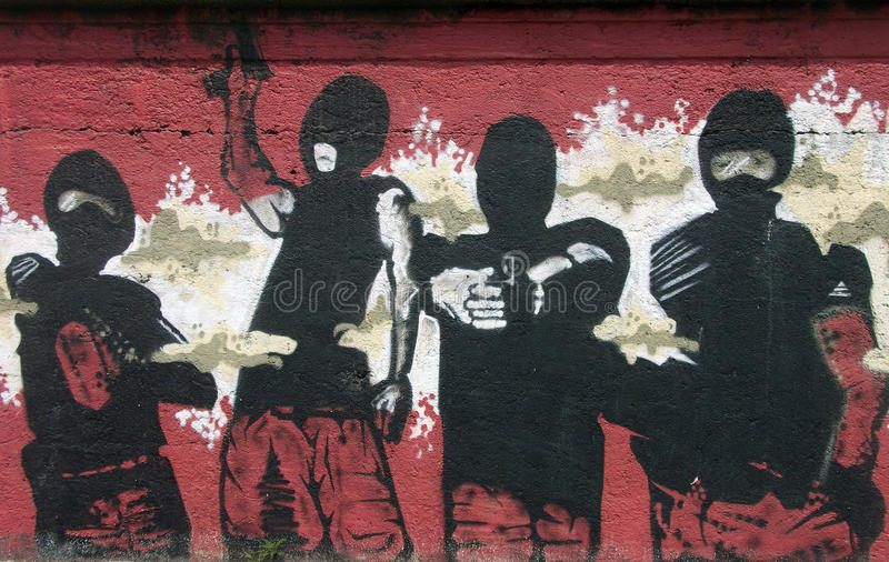 Italiaanse graffiti stock fotografie