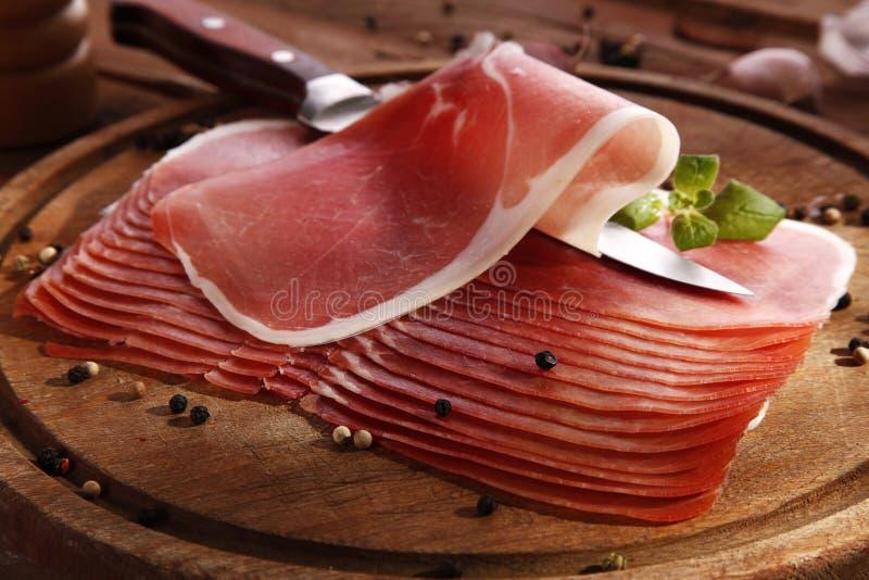 Italiaanse ham stock foto's