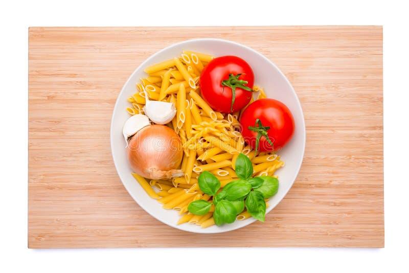 Italiaanse ingrediënten royalty-vrije stock afbeelding