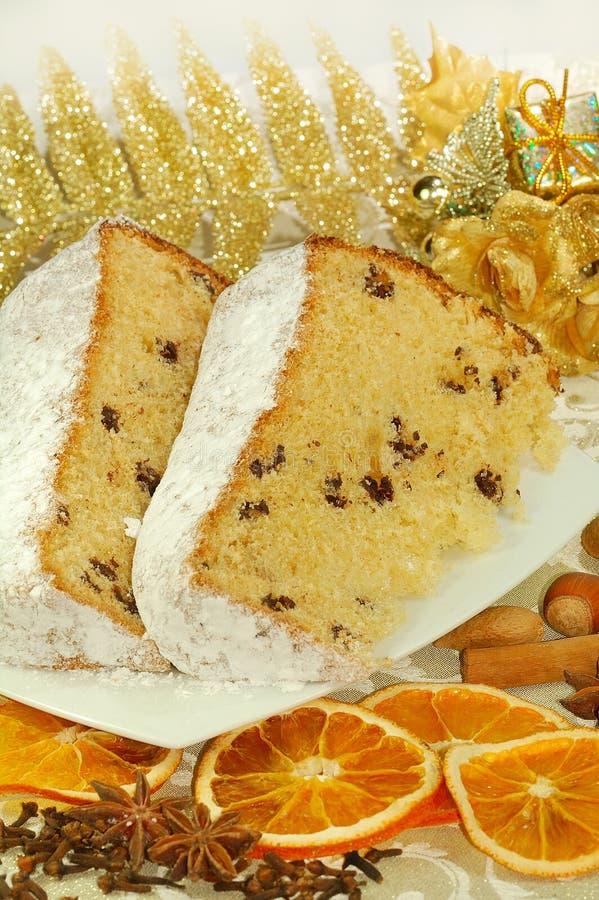 Italiaanse Kerstmiscake stock afbeelding