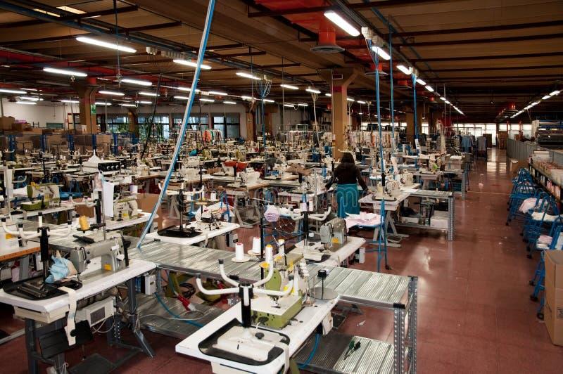 Italiaanse kledingsfabriek royalty-vrije stock afbeeldingen