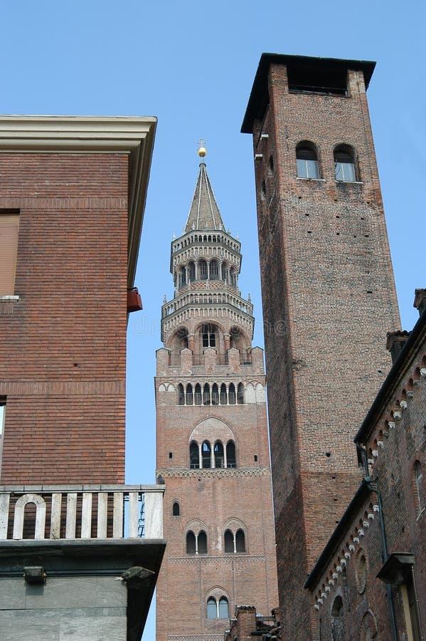 Italiaanse klokketoren royalty-vrije stock afbeeldingen
