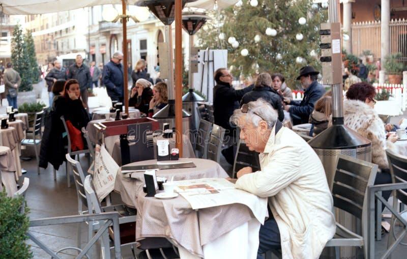 Italiaanse koffie en theebar stock fotografie