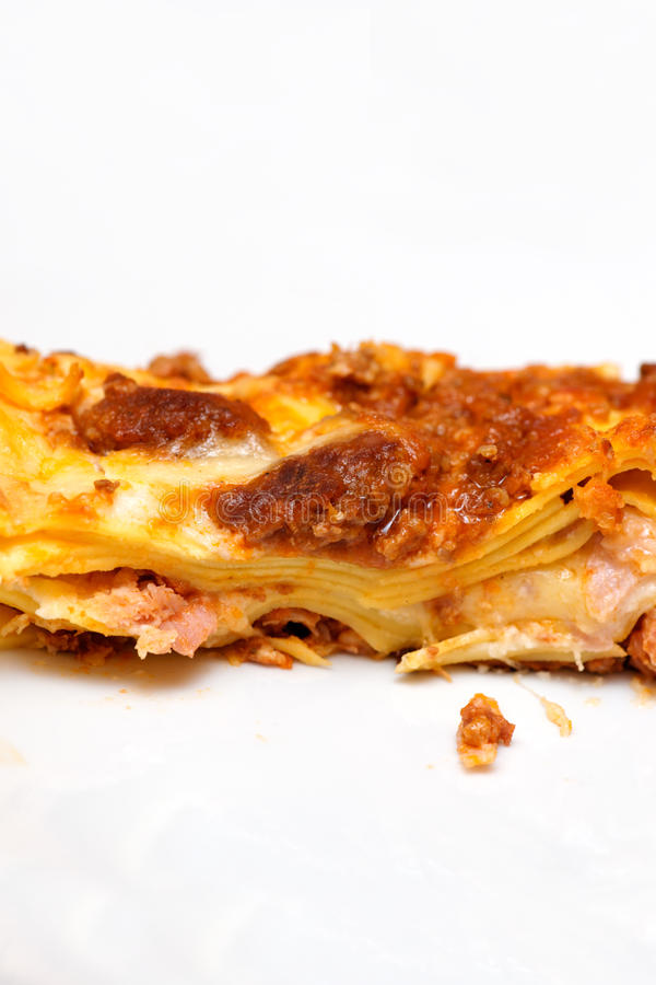 Italiaanse lasagna stock afbeelding