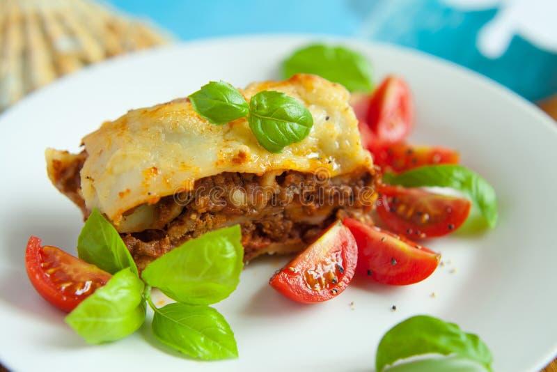 Italiaanse lasagna's stock foto