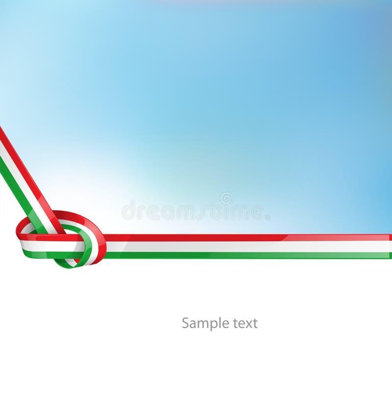 Italiaanse lintvlag vector illustratie