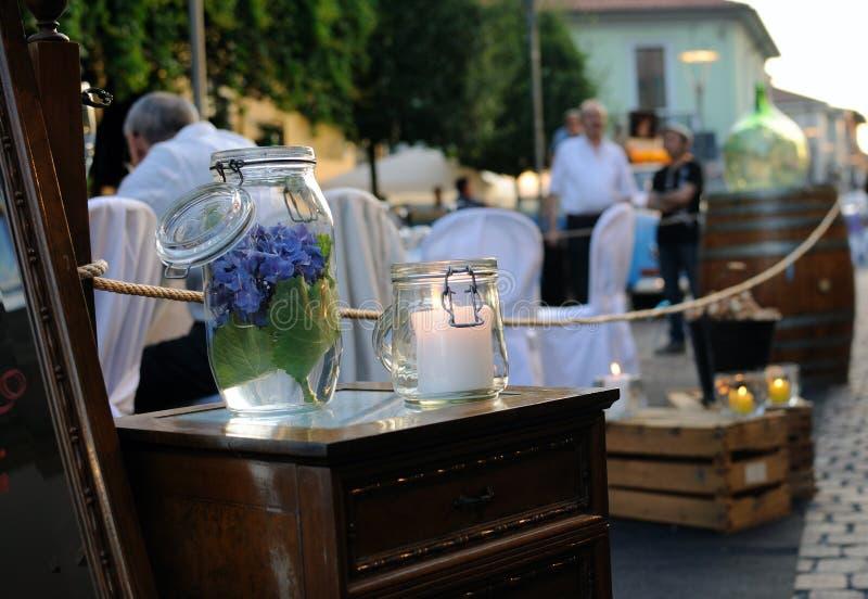 Italiaanse openluchtkoffie royalty-vrije stock foto