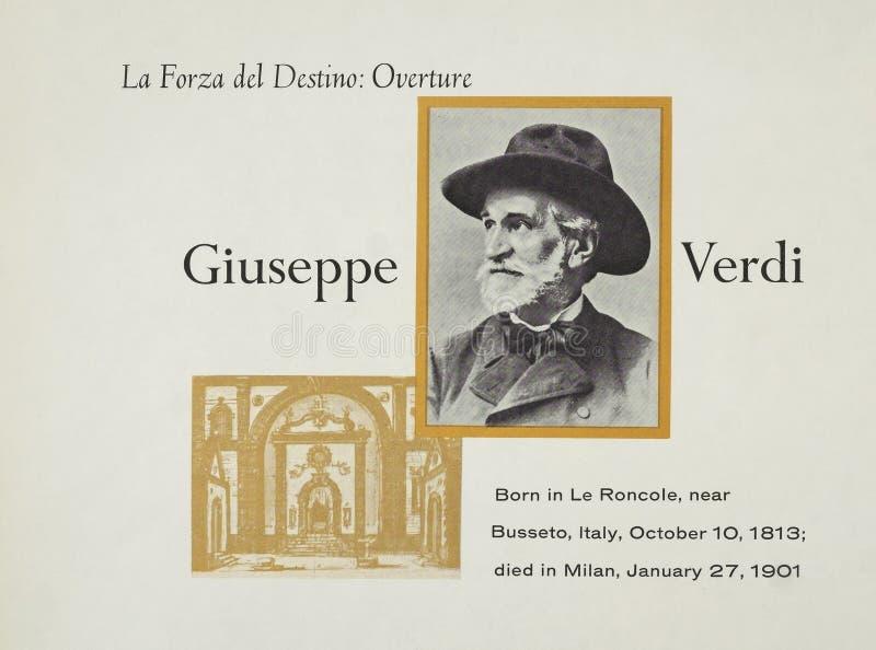 Italiaanse operacomponist Giuseppe Verdi stock afbeeldingen