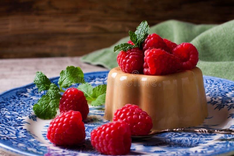 Italiaanse pannacotta van de dessertkoffie royalty-vrije stock foto