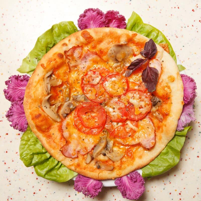 Italiaanse pizza royalty-vrije stock foto